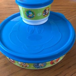 Tupperware MickeyMouse 2pc set used good condition